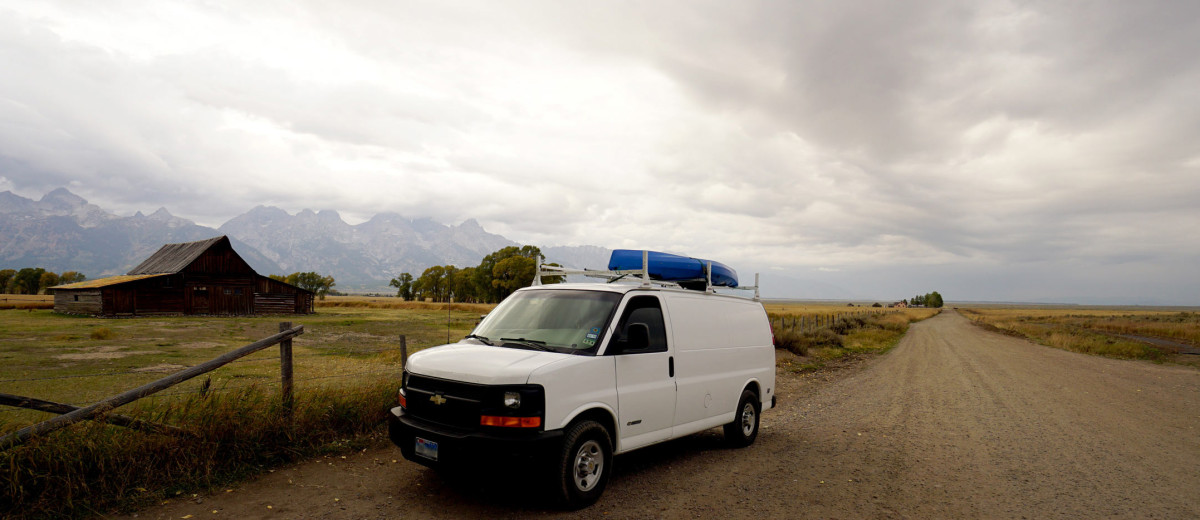 Our Van & The Famous Barn | Grand Teton National Park | Photo by BackroadsVanner.com