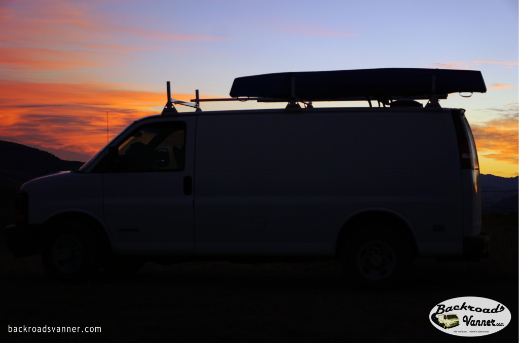 Our Van at Sunrise, Gallatin Mountains, Gardiner District, Montana | Sept 2015 | Photo by BackroadsVanner.com