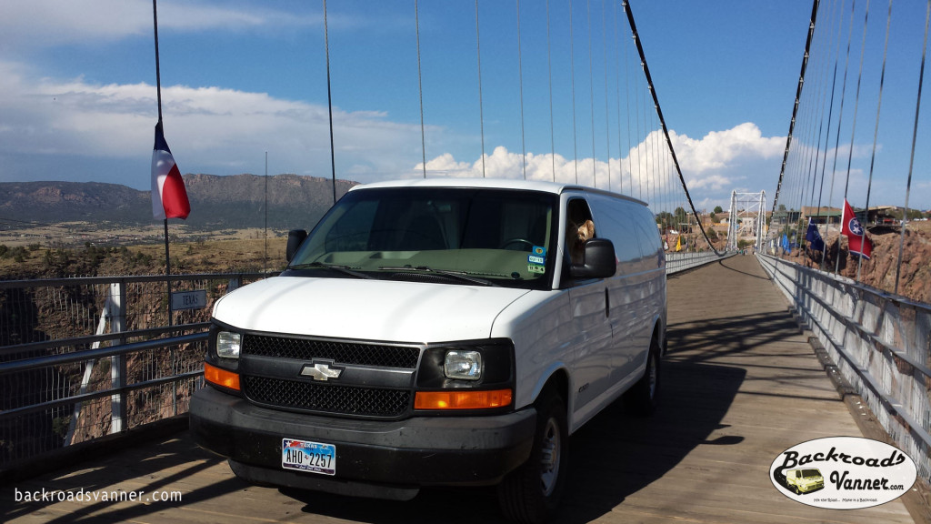 Our Van on the Royal Gorge Bridge, CO | Photo by BackroadsVanner.com