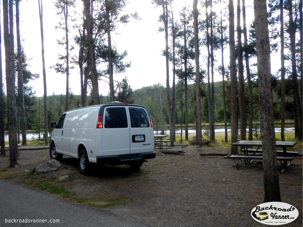 Our Van in Grand Teton National Park | Photo by BackroadsVanner.com