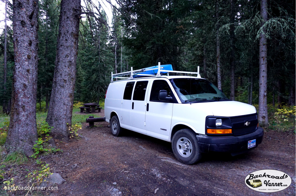 Our Van at Tom Miner Campground, Gallatin Mountains, Gardiner District, Montana | Photo by BackroadsVanner.com | Photo by BackroadsVanner.com
