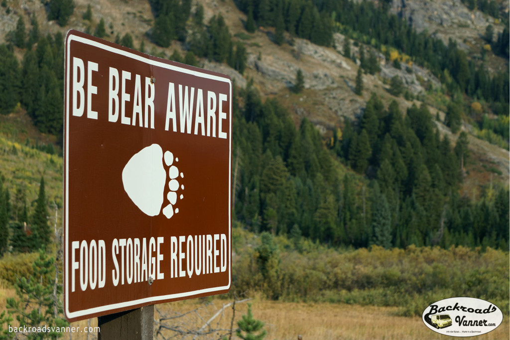 Be Bear Aware! | Gallatin Mountains, Gardiner District, Montana | Photo by BackroadsVanner.com