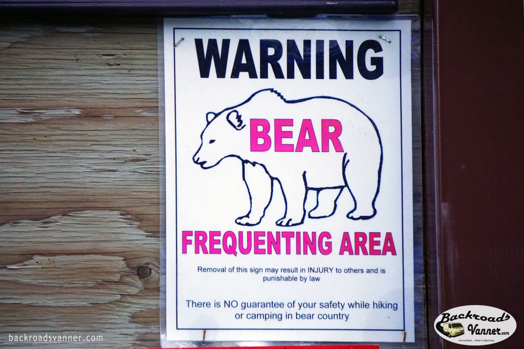 Warning - Grizzly Bear Frequenting Area | Grand Teton National Park | Photo by BackroadsVanner.com