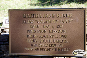 Calamity Jane's Grave Site, Mount Moriah Cemetery, Deadwood, SD | Sept 2015 | Photo by BackroadsVanner.com