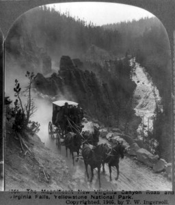 The magnificent new Virginia Canyon Road and Virginia Falls, Yellowstone National Park 1905
